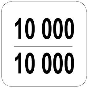 10000 / 10000