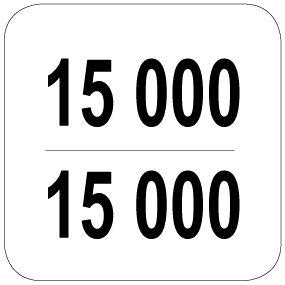 15000 / 15000