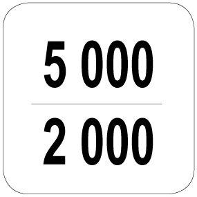 5000 / 2000